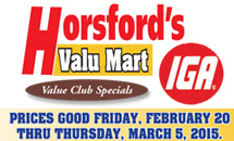 Weekly Specials: February 20-March 05, 2015
